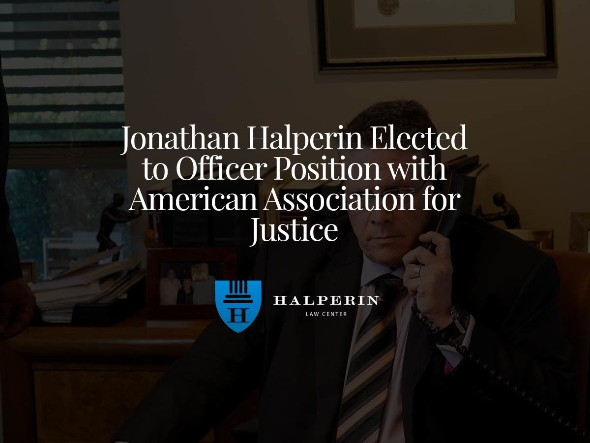 Jonathan Halperin Elected to Officer Position with American Association for Justice