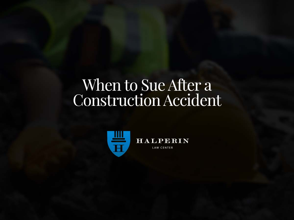 When to Sue After a Construction Accident